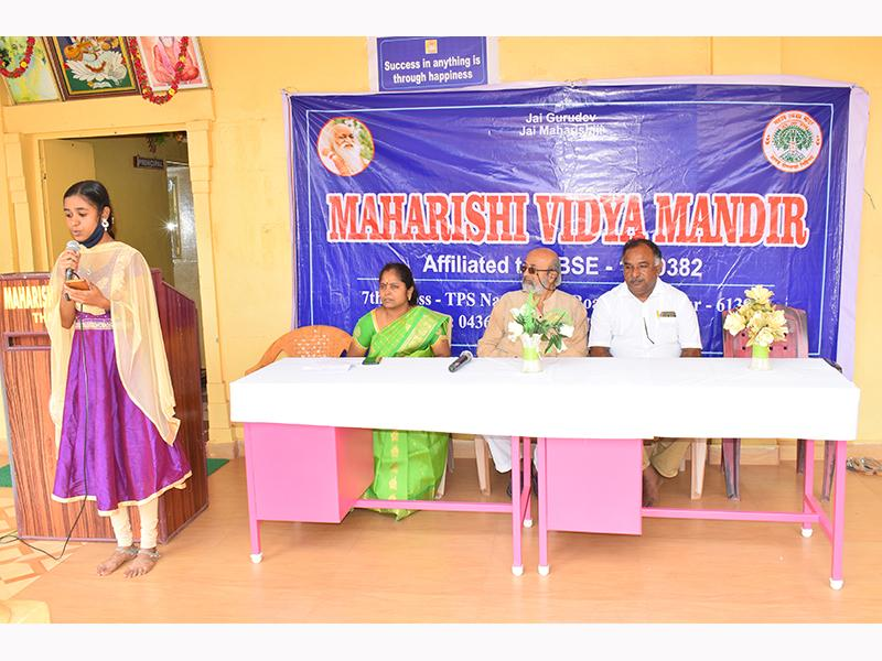 150th Birth Anniversary of Swami Brahmanand Saraswati in MVM Thanjavur