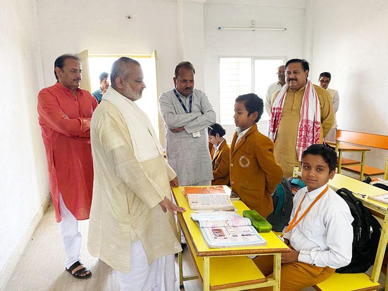 Brahmachari Girish ji, Chairman of Maharishi Vidya Mandir Schools Group has visited MVM Amarpatan.