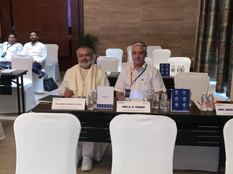Brahmachari Girish Ji has attended 2 days Franchise Knowledge Series International Conference and Seminar at New Delhi. Shri KK Tarhan, Shri S Agasty and Shri Vipin Dwivedi also attended the same.