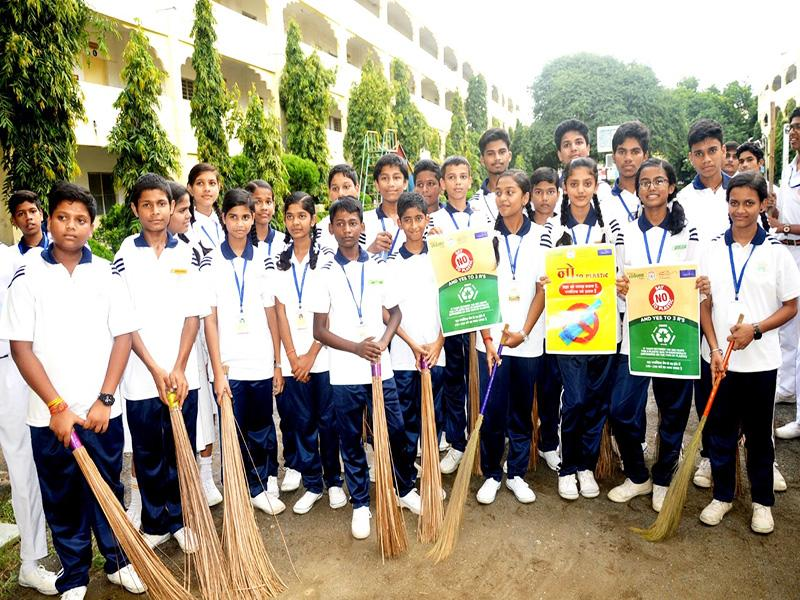 World Cleanliness Day Celebration in Maharishi Vidya Mandir Jabalpur
