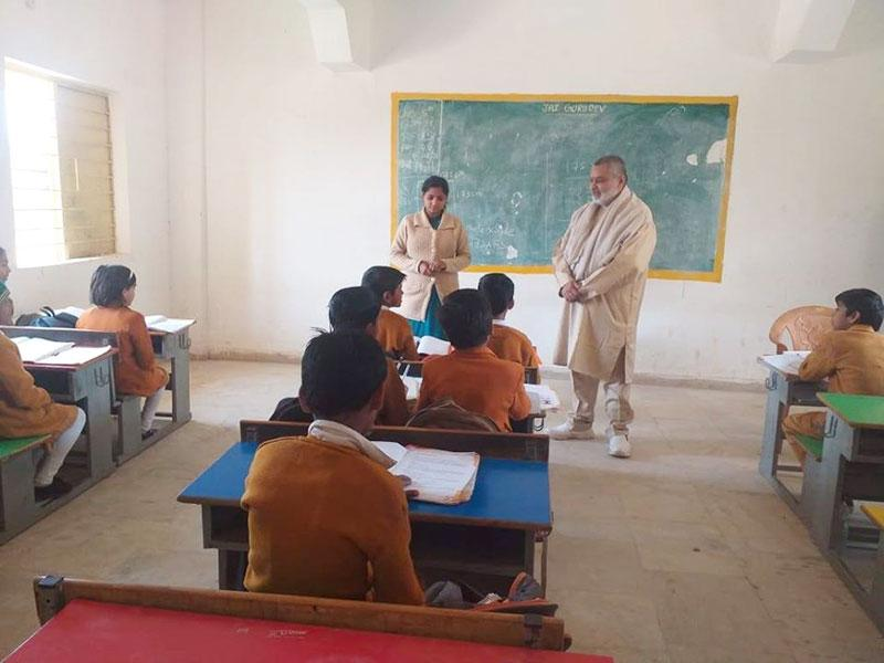 Brahmachari Girish ji, Chairman of Maharishi Vidya Mandir Schools Group has visited MVM Banheri.